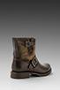 Image 4 of Frye Veronica Canvas Shortie Boot in Dark Brown