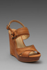 Image 1 of Frye Hannah Alexa Criss Cross Wedge in Natural