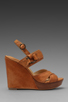 Image 2 of Frye Hannah Alexa Criss Cross Wedge in Natural