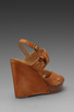 Image 4 of Frye Hannah Alexa Criss Cross Wedge in Natural