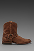 Image 2 of Frye Wyatt Harness Short Boot in Sand