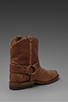 Image 4 of Frye Wyatt Harness Short Boot in Sand