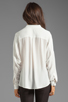 Image 3 of Funktional Linear Cold Shoulder Fold Front Blouse in White