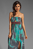 Image 1 of Gypsy Junkies Talulah Maxi Dress in Teal Tie Dye