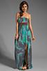 Image 2 of Gypsy Junkies Talulah Maxi Dress in Teal Tie Dye