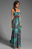 Image 3 of Gypsy Junkies Talulah Maxi Dress in Teal Tie Dye