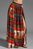 Image 1 of Gypsy Junkies Oceana High Slit Maxi Skirt in Topanga Dark