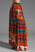 Image 2 of Gypsy Junkies Oceana High Slit Maxi Skirt in Topanga Dark