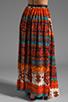 Image 3 of Gypsy Junkies Oceana High Slit Maxi Skirt in Topanga Dark