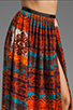 Image 4 of Gypsy Junkies Oceana High Slit Maxi Skirt in Topanga Dark