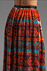 Image 6 of Gypsy Junkies Oceana High Slit Maxi Skirt in Topanga Dark