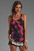 Image 1 of Gypsy Junkies The Gypsy Slip Tank in Pink Tie Dye