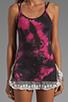 Image 3 of Gypsy Junkies The Gypsy Slip Tank in Pink Tie Dye