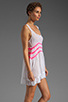 Image 3 of Gypsy Junkies Seville Tunic in White/Neon Pink