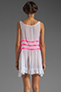 Image 4 of Gypsy Junkies Seville Tunic in White/Neon Pink