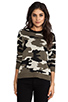 Image 1 of Generation Love Ruby Army Sweater in Camouflage