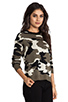 Image 2 of Generation Love Ruby Army Sweater in Camouflage