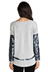 Image 3 of Generation Love Bobo Silver Leather Sweater in Grey
