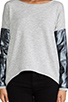 Image 4 of Generation Love Bobo Silver Leather Sweater in Grey