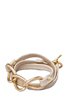 Image 1 of gorjana Parker Leather Wrap Bracelet in Bone