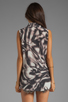 Image 2 of Graham & Spencer Abstract Zebra Print Sleeveless Button Down in Multi