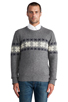 Image 1 of GANT Rugger Flakey Sholder Sweater in Dark Grey Melange