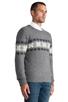 Image 2 of GANT Rugger Flakey Sholder Sweater in Dark Grey Melange