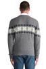Image 3 of GANT Rugger Flakey Sholder Sweater in Dark Grey Melange