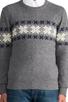 Image 4 of GANT Rugger Flakey Sholder Sweater in Dark Grey Melange