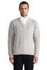 Image 1 of GANT Rugger Zig Sag Sweater in Light Grey Melange