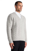 Image 2 of GANT Rugger Zig Sag Sweater in Light Grey Melange