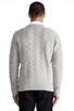 Image 3 of GANT Rugger Zig Sag Sweater in Light Grey Melange