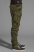 Image 3 of G-Star Rovic 3D Loose Tapered in Sage