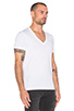 Image 2 of G-Star 2 Pack V-Neck Tees in White