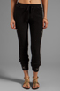 Image 1 of Gypsy 05 Foundation Chunky Loop Terry Pant With Rib in Black