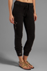 Image 2 of Gypsy 05 Foundation Chunky Loop Terry Pant With Rib in Black