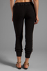 Image 3 of Gypsy 05 Foundation Chunky Loop Terry Pant With Rib in Black