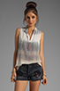 Image 1 of Gypsy 05 Hampton Silk S/L Placket Top in Oyster