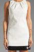 Image 5 of Halston Heritage Sleeveless Embellished Bottom Dress in Bone/Black