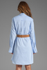 Image 4 of Halston Heritage Belted Shirtdress with Overlay in Chambray