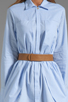 Image 5 of Halston Heritage Belted Shirtdress with Overlay in Chambray
