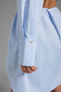Image 6 of Halston Heritage Belted Shirtdress with Overlay in Chambray