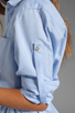 Image 7 of Halston Heritage Belted Shirtdress with Overlay in Chambray