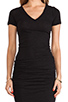 Image 5 of Monrow Shirred Tee Dress in Black