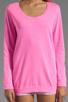Image 3 of Monrow White Fleece Boyfriend Sweatshirt in Neon Pink