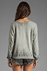 Image 2 of Monrow Vintage Sweatshirt in Heather
