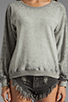 Image 3 of Monrow Vintage Sweatshirt in Heather