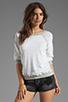 Image 1 of Monrow Vintage Sweatshirt in White