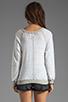 Image 2 of Monrow Vintage Sweatshirt in White