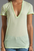 Image 3 of Monrow Tissue V Neck Tee in Fizz